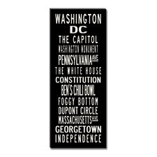 Washington DC Textual Art on Canvas