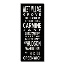 West Village Textual Art on Canvas