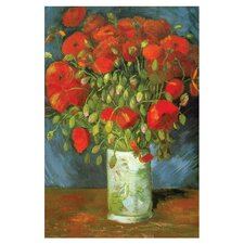 Red Poppies by Vincent Van Gogh Painting Print on Canvas