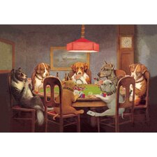 Passing the Ace under the Table (Dog Poker) by Coolidge Painting Print on Canvas