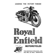 <strong>Buyenlarge</strong> Royal Enfield Motorcycles Leading the Victory Parade Canvas Art