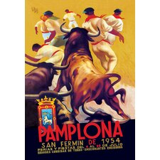 Pamplona, San Fermin by Gibson Vintage Advertisement on Canvas