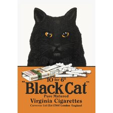 <strong>Buyenlarge</strong> Black Cat Pure Matured Virginia Cigarettes Canvas Art