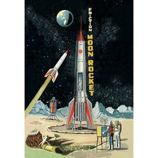 <strong>Buyenlarge</strong> Friction Moon Rocket Canvas Art