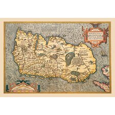 Map of Ireland by Ortelius Graphic Art on Canvas