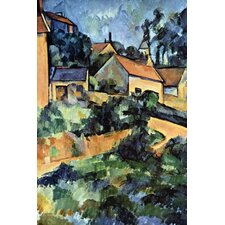 Road Curve in Montgerout by Paul Cezanne Painting Print on Canvas