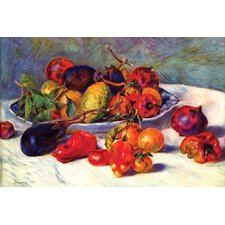 Still Life with Tropical Fruits by Pierre-August Renoir Painting Print on Canvas