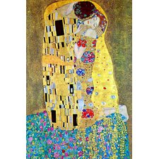 Kiss by Gustav Klimt Painting Print on Canvas