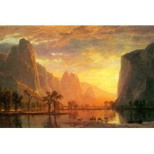 Valley in Yosemite by Albert Bierstadt Painting Print on Canvas