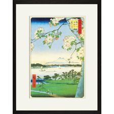Cherry Blossoms by Utagawa Hiroshige Framed Graphic Art