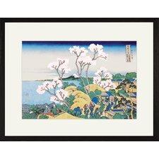 Cherry Blossom Festival by Katsushika Hokusai Framed Graphic Art