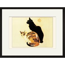 Chats Framed and Matted Print