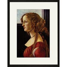 <strong>Buyenlarge</strong> Portrait of Simonetta Vespucci Framed and Matted Print