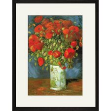 Red Poppies Framed and Matted Print