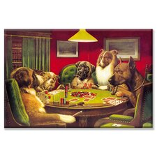 "<strong>Buyenlarge</strong> Dog Poker - ""Is the St. Bernard Bluffing?"" Canvas Wall Art"