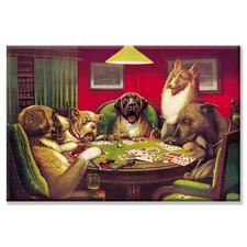 "Dog Poker - ""Stun, Shock & the Win"" Canvas Wall Art"