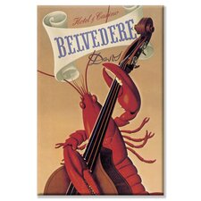 <strong>Buyenlarge</strong> Lobster Musician at the Belvedere Hotel and Casino Canvas Wall Art