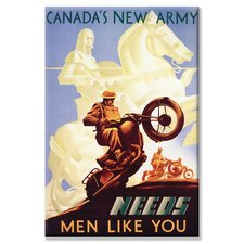 <strong>Buyenlarge</strong> Canada's New Army: Men Like You Canvas Wall Art