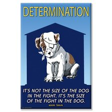 <strong>Buyenlarge</strong> Determination:  It's Not The Size of The Dog in The Fight; It's The Size of Fight in The Dog Canvas Wall Art
