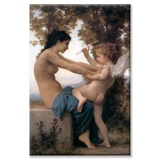 <strong>Buyenlarge</strong> Young Girl Defending Herself Against Cupid Canvas Wall Art
