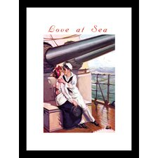 Love at Sea Framed Vintage Advertisement