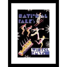 National Park's Winter Sports Framed Vintage Advertisement