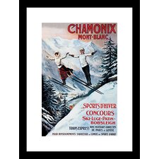 Chamonix Mont-Blanc Framed Vintage Advertisement