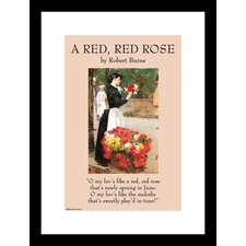 <strong>Buyenlarge</strong> A Red  Rose Framed and Matted Print
