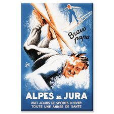 <strong>Buyenlarge</strong> Alpes and Jura Canvas Wall Art
