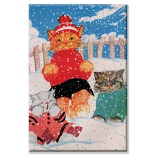 Snow Kittens Canvas Wall Art