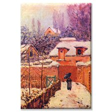 Garden in the Snow Art Painting Print on Canvas