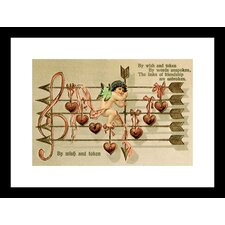 By Wish and Token Framed Vintage Advertisement