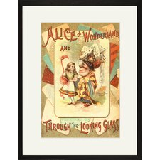Alice in Wonderland and Through The Looking Glass Framed Graphic Art