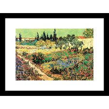 Flowering Garden Framed Painting Print