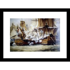 <strong>Buyenlarge</strong> Battle of Trafalgar Framed and Matted Print