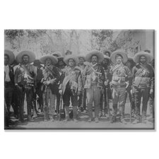 Pancho Villa and Staff Photographic Print on Canvas