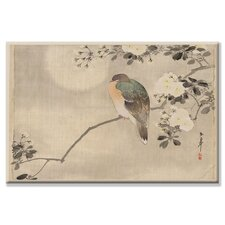 <strong>Buyenlarge</strong> Bird and Cherry Blossoms Canvas Wall Art