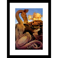 The Reluctant Dragon Maxfield Parrish Framed Painting Print
