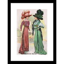 Le Costume Royals Ladies in Ostrich Feathered Hats Framed Graphic Art