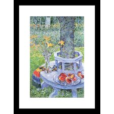Mrs. Hassam's Garden Framed and Matted Print