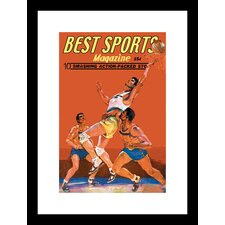 <strong>Buyenlarge</strong> Best Sports Magazine Basketball Framed and Matted Print