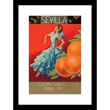 Sevilla Fair Week Framed Vintage Advertisement