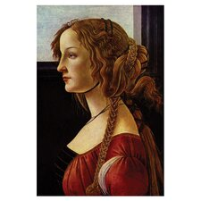 Portrait of Simonetta Vespucci by Sandro Botticelli Painting Print on Canvas