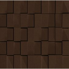 "Skyline 12"" x 12"" Glazed Porcelain Rectified Brick in Moka"