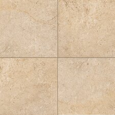 "Italian Stone 4"" x 4"" Glazed Porcelain Field Tile in Ocra"
