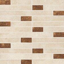 "Italian Stone 12"" x 12"" Porcelain Mosaic in Avorio Gold"