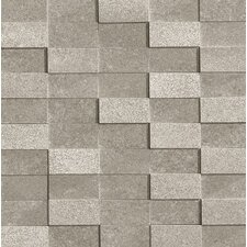 "Ecoliving 12"" x 12"" Semi Polished Reflex Porcelain Mosaic in Grey"