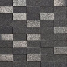 "<strong>Marca Corona</strong> Ecoliving 12"" x 12"" Semi Polished Reflex Porcelain Mosaic in Black"