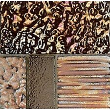 "Reactions 4"" x 4"" Porcelain in Bronzo (Set of 3)"