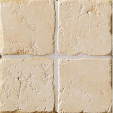 "Italian Country 4"" x 4"" Bullnose Outcorner Tile Trim in Bianco"